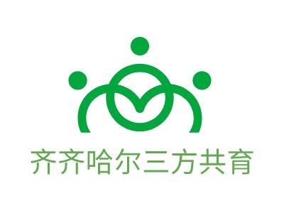 沈阳齐齐哈尔三方共育logo标志设计