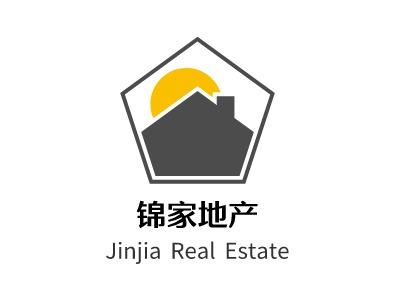 郑州锦家地产企业标志设计