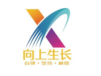 武汉向上生长logo标志设计