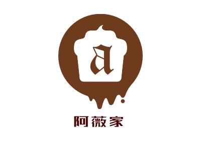 阿薇家店铺logo头像设计