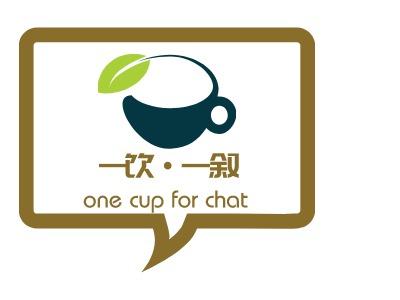 一饮一叙店铺logo头像设计