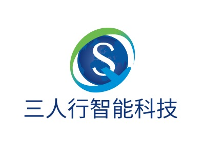 三人行智能科技公司logo设计