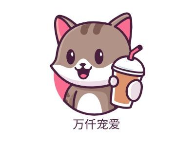 万仟宠爱门店logo设计