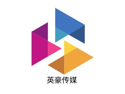 英豪传媒logo标志设计