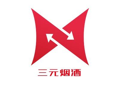 上海三元烟hotel铺标志设计