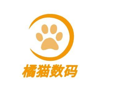 橘cat 数码门店logo设计