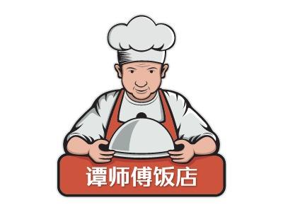 谭师傅饭店店铺logo头像设计