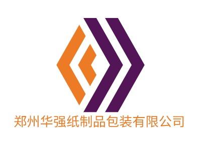 郑州华强纸制品包装有限公�酒笠�标志设计