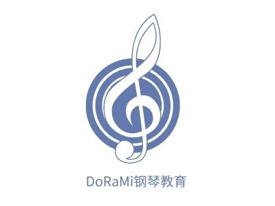 DoRaMi钢琴教育logo标志设计