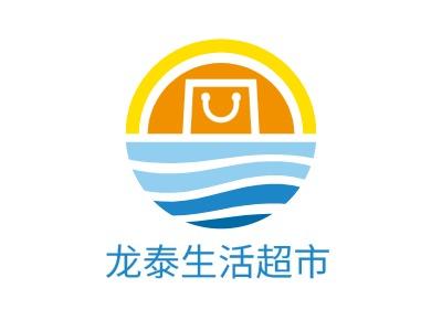 龙泰life超市店铺标志设计