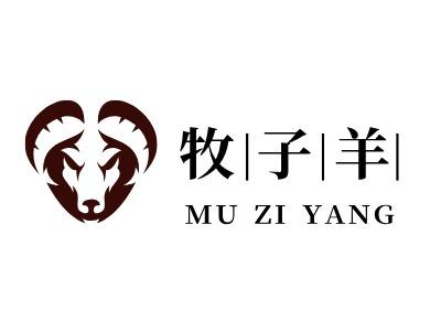 牧子羊店铺logo头像设计