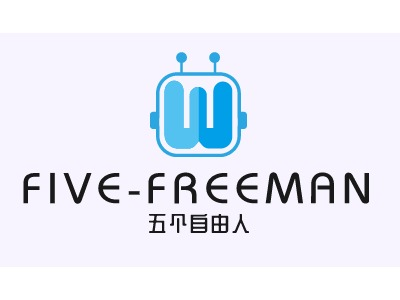 五个free人公司logo设计