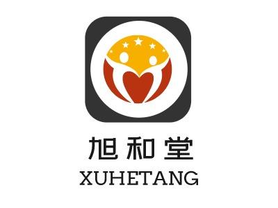旭和堂logo标志设计