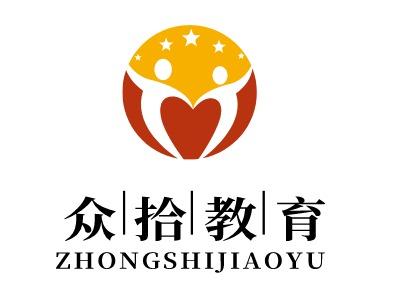 众拾教育logo标志设计