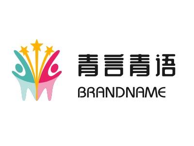 青言青语logo标志设计
