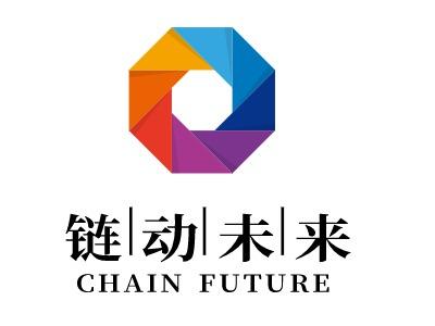 链动未来logo标志设计
