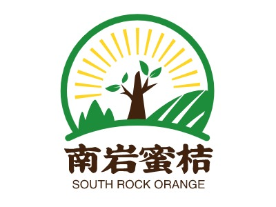 南岩蜜桔店铺标志设计