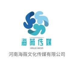 南京海薇传媒logo标志设计