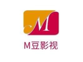 惠州M豆影视logo标志设计