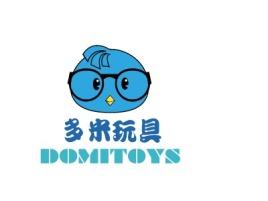 江门多米玩具店铺标志设计