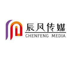 西安辰风传媒logo标志设计