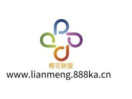 樱花联盟公司logo设计