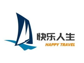 HAPPY TRAVELlogo标志设计