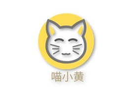 喵小黄门店logo设计