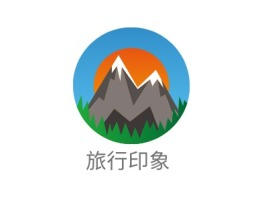 旅行印象logo标志设计
