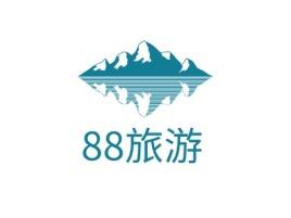 88旅游logo标志设计