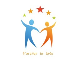 Forever in love门店logo设计