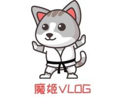 魔姬VLOGlogo标志设计