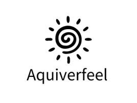 Aquiverfeellogo标志设计