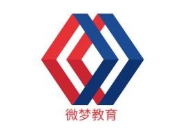 微梦教育logo标志设计