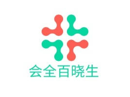会全百晓生门店logo标志设计