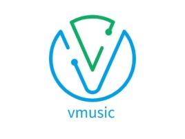 vmusic公司logo设计