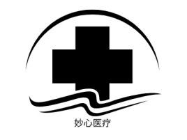 妙心医疗门店logo标志设计