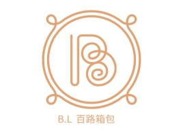 B.L 百路箱包店铺标志设计