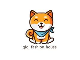 qiqi fashion house门店logo设计