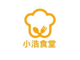 小浩食堂店铺logo头像设计