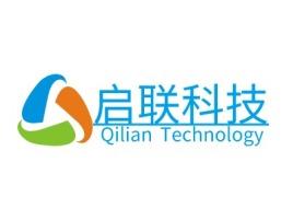 启联科技公司logo设计