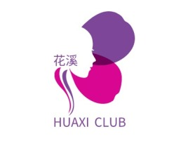 HUAXI CLUB门店logo设计