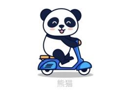 熊猫logo标志设计