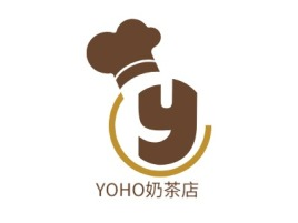 YOHO奶茶店店铺logo头像设计