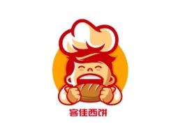 客佳西饼品牌logo设计