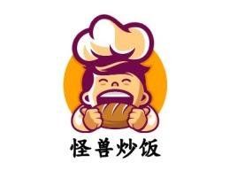 怪兽炒饭店铺logo头像设计