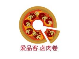 爱品客.卤肉卷品牌logo设计