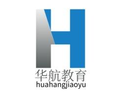 华航教育logo标志设计