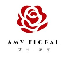 AMY FLORAL店铺标志设计