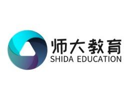 师大教育logo标志设计
